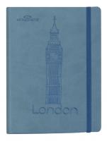 Zápisník Concorde Londýn - A5, s gumou, linkovaný, 80 listů