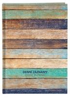 Denní záznamy A4 - lamino, motiv dřeva