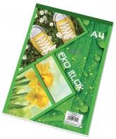 Šitý poznámkový blok A4 Eko - čtverečkovaný, recyklovaný, 50 listů