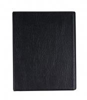 Kroužkový zápisník A5 Karis - imitace kůže, s registrem, 100 linkovaných listů, černý