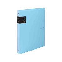 Kroužkový zápisník A6 Karis Pastelini - plastový, 100 linkovaných listů, modrý