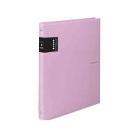 Kroužkový zápisník A6 Karis Pastelini - plastový, 100 linkovaných listů, růžový