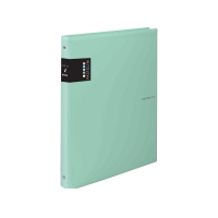 Kroužkový zápisník A6 Karis Pastelini - plastový, 100 linkovaných listů, zelený