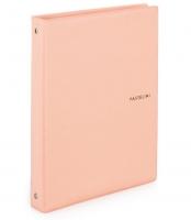 Kroužkový zápisník A4 Karis Pastelini - plastový, 100 linkovaných listů, meruňkový