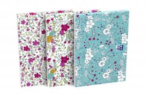 Lepený poznámkový blok A6 Oxford Floral - linkovaný, mix motivů, 80 listů