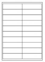 Samolepící etikety - 100x28 mm, papírové, bílé, okraj, 100 archů
