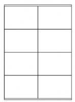 Samolepící etikety - 105x72 mm, papírové, bílé, okraj, 100 archů