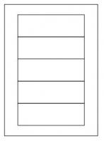 Samolepící etikety - 150x50 mm, papírové, bílé, okraj, 100 archů