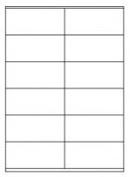 Samolepící etikety - 105x48 mm, papírové, bílé, okraj, 100 archů