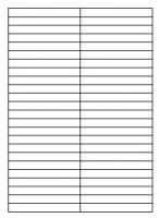 Samolepící etikety - 105x12,3 mm, papírové, bílé, okraj, 100 archů