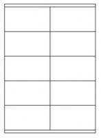 Samolepící etikety - 105x57 mm, papírové, bílé, okraj, 100 archů