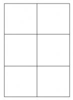 Samolepící etikety - 105x99 mm, papírové, bílé, okraj, 100 archů