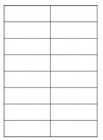 Samolepící etikety - 105x37 mm, papírové, bílé, okraj, 100 archů