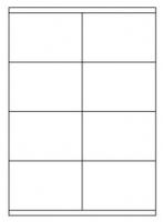 Samolepící etikety - 105x70 mm, papírové, bílé, okraj, 100 archů