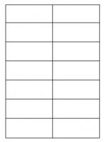 Samolepící etikety - 105x42,4 mm, papírové, bílé, okraj, 100 archů