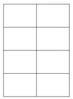 Samolepící etikety - 105x74 mm, papírové, bílé, okraj, 100 archů
