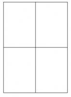 Samolepící etikety - 105x148,5 mm, papírové, bílé, okraj, 100 archů