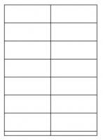 Samolepící etikety - 105x41 mm, papírové, bílé, okraj, 100 archů