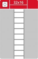 Termotransferové etikety TTR na kotouči - 32x16 mm, dutinka 40 mm, bílé, 5000 ks