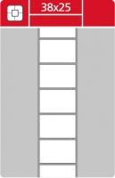 Termotransferové etikety TTR na kotouči - 38x25 mm, dutinka 40 mm, bílé, 3000 ks