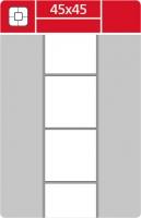 Termotransferové etikety TTR na kotouči - 45x45 mm, dutinka 40 mm, bílé, 2000 ks