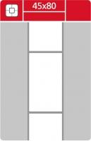 Termotransferové etikety TTR na kotouči - 45x80 mm, dutinka 40 mm, bílé, 1000 ks
