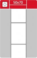 Termotransferové etikety TTR na kotouči - 50x70 mm, dutinka 40 mm, bílé, 1000 ks