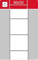Termotransferové etikety TTR na kotouči - 60x50 mm, dutinka 40 mm, bílé, 2000 ks