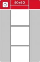 Termotransferové etikety TTR na kotouči - 60x60 mm, dutinka 40 mm, bílé, 2000 ks