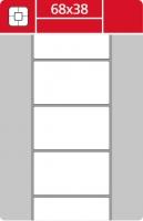 Termotransferové etikety TTR na kotouči - 68x38 mm, dutinka 40 mm, bílé, 2000 ks