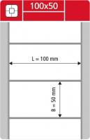 Termotransferové etikety TTR na kotouči - 100x50 mm, dutinka 40 mm, bílé, 2000 ks