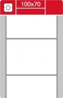 Termotransferové etikety TTR na kotouči - 100x70 mm, dutinka 40 mm, bílé, 1000 ks