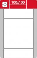 Termotransferové etikety TTR na kotouči - 100x100 mm, dutinka 40 mm, bílé, 1000 ks