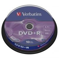 DVD+R Verbatim AZO 4,7 GB - 16x, bez možnosti potisku, cake box, 10-pack
