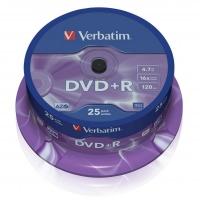 DVD+R Verbatim AZO 4,7 GB - 16x, bez možnosti potisku, cake box, 25-pack
