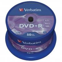 DVD+R Verbatim AZO 4,7 GB - 16x, bez možnosti potisku, cake box, 50-pack