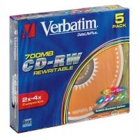 DVD+RW Verbatim SERL 700 MB - 2-4x, bez možnosti potisku, 1 ks - DOPRODEJ
