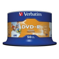 DVD-R Verbatim AZO 4,7 GB - 16x, bez možnosti potisku, cake box, 50-pack