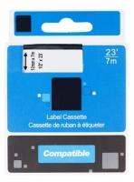 Kompatibilní páska s dymo Printline 45013 - D1, S0720530, černý/bílý, 12 mm x 7 m