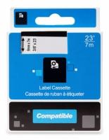 Kompatibilní páska s dymo Printline 40918 - D1, S0720730, černý/žlutý, 9 mm x 7 m