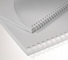 """Kroužkový hřbet 3/1"""" - 8 mm, kovový, 36–50 listů, bílý, 100 ks"""