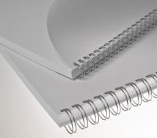 """Kroužkový hřbet 3/1"""" - 8 mm, kovový, 36–50 listů, stříbrný, 100 ks"""