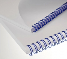 """Kroužkový hřbet 3/1"""" - 14,3 mm, kovový, 101-120 listů, modrý, 50 ks"""