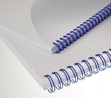 """Kroužkový hřbet 3/1"""" - 9,5 mm, kovový, 51–65 listů, modrý, 100 ks"""