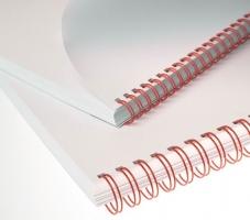 """Kroužkový hřbet 3/1"""" - 9,5 mm, kovový, 51–65 listů, červený, 100 ks"""