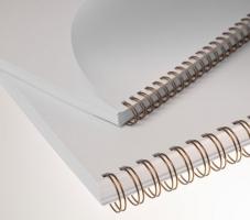 """Kroužkový hřbet 3/1"""" - 8 mm, kovový, 36–50 listů, bronzový, 100 ks"""
