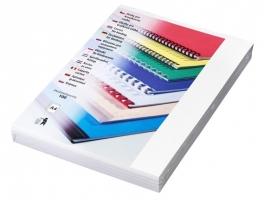 Kartonové desky pro zadní stranu kroužkové vazby Chromo - A4, leštěný povrch, bílé, 100 ks