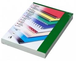 Kartonové desky pro zadní stranu kroužkové vazby Chromo - A4, leštěný povrch, zelené, 100 ks