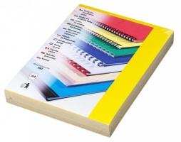 Kartonové desky pro zadní stranu kroužkové vazby Chromo - A4, leštěný povrch, žluté, 100 ks