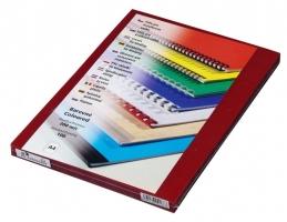 Přední strana kroužkové vazby Prestige - A4, 200 my, PVC, transparentní červené, 100 ks
